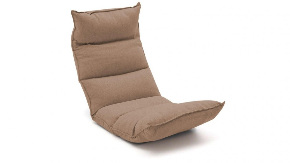SOGA Floor Recliner Lazy Chair - Khaki