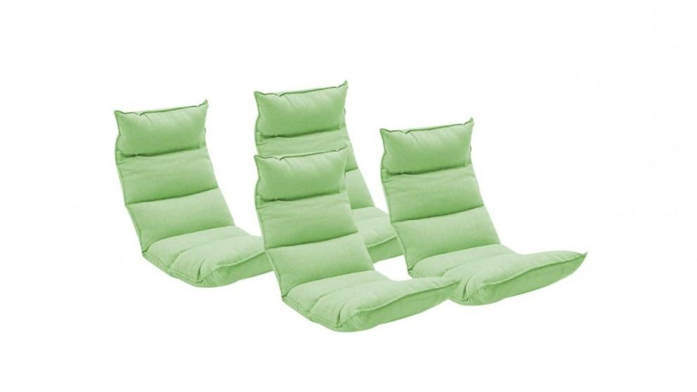 SOGA 4x Floor Recliner Lazy Chair - Green