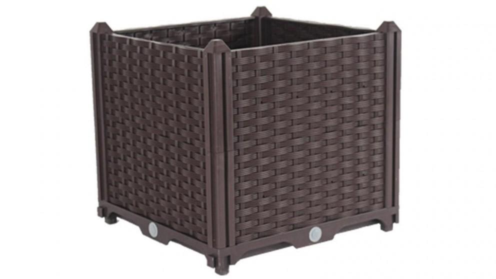 SOGA 40cm x 36cm Square Raised Plastic Garden Planter Box