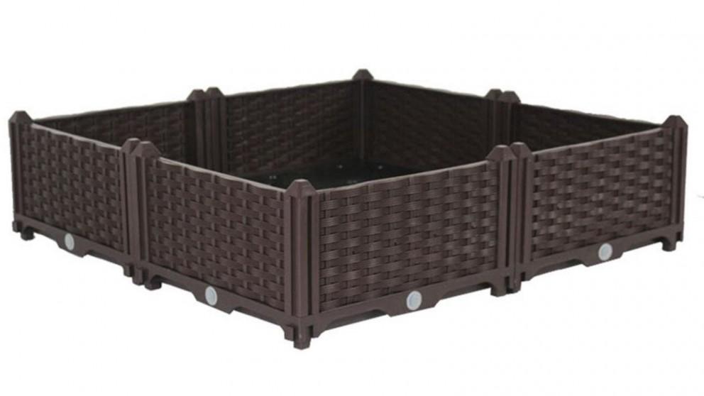 SOGA 80cm x 23cm Double Row Plastic Garden Planter Box