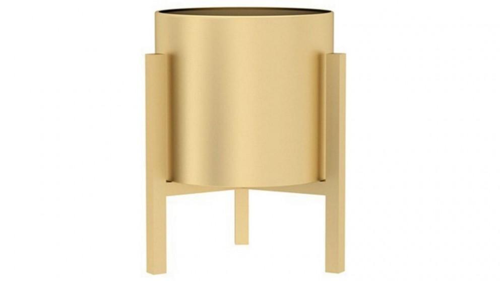 SOGA 30cm Metal Plant Stand with Flower Pot Holder - Gold