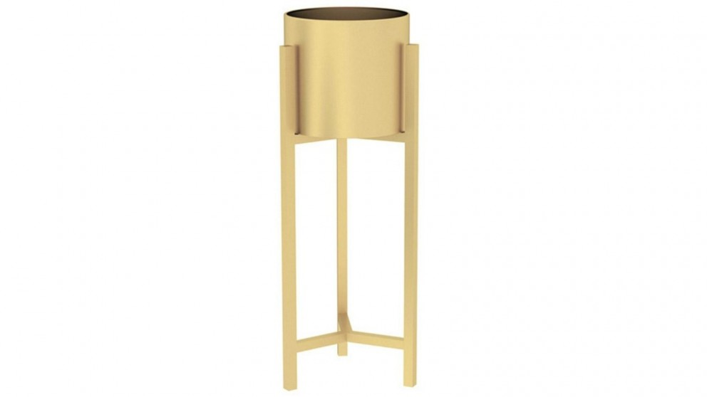 SOGA 60cm Gold Metal Plant Stand with Flower Pot Holder