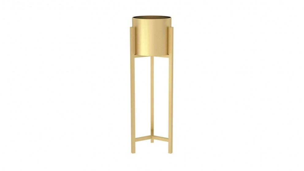 SOGA Gold Metal Plant Stand - 75cm