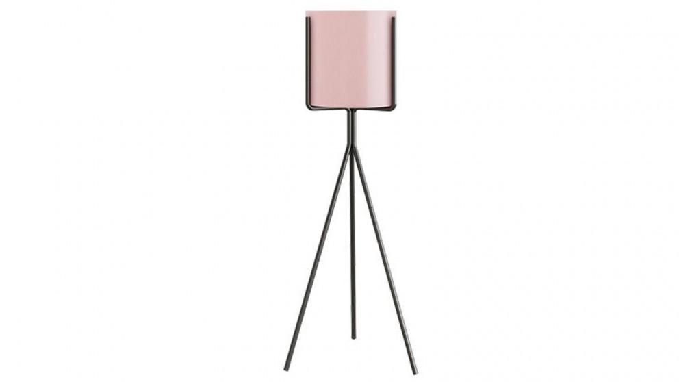 SOGA 70cm Tripod Flower Pot Plant Stand with Flowerpot Holder - Pink