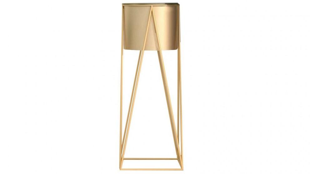 SOGA 50cm Gold Metal Plant Stand with Flower Pot Holder - Gold
