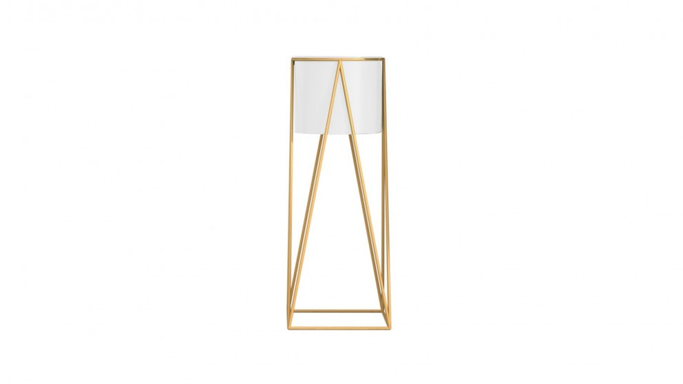 SOGA Gold Wire Metal Pot Stand - 70cm