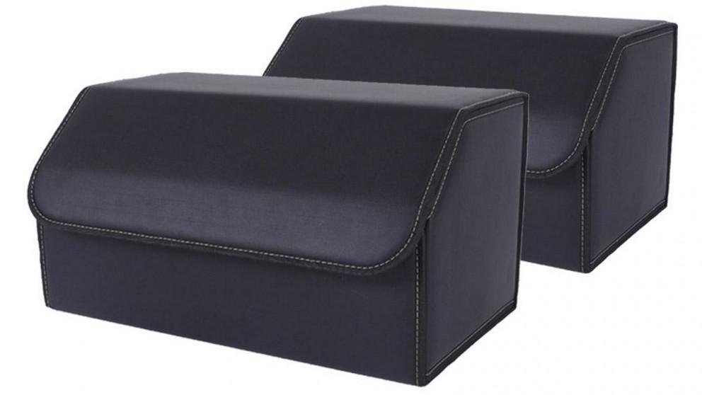 SOGA 2x Large Car Boot Storage Box - Black