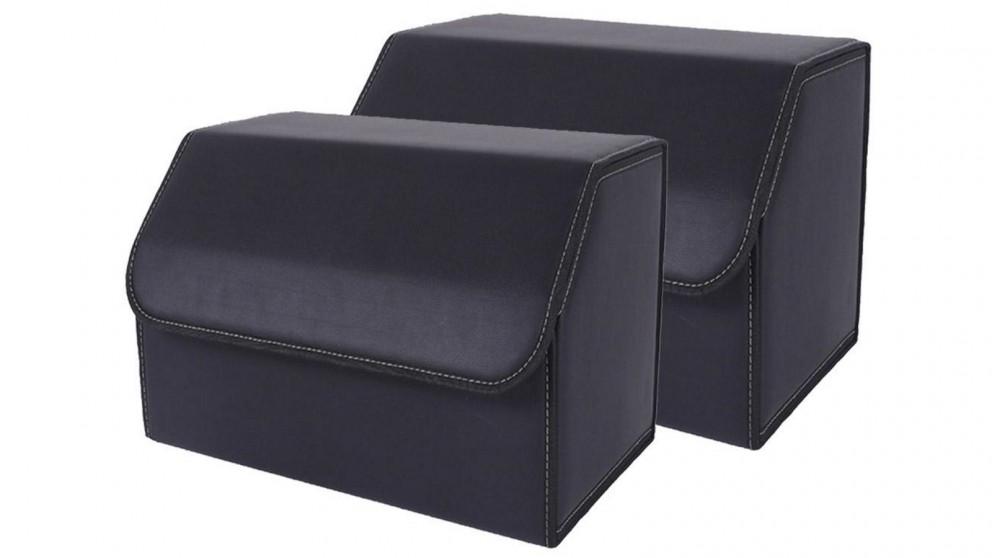 SOGA 2x Medium Car Boot Storage Box - Black