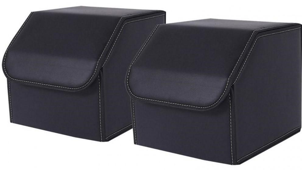 SOGA 2x Small Car Boot Storage Box - Black