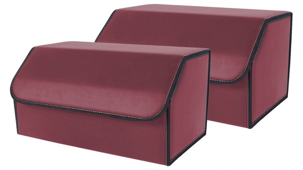 SOGA 2x Large Car Boot Storage Box - Red