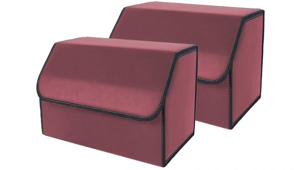 SOGA 2x Medium Car Boot Storage Box - Red