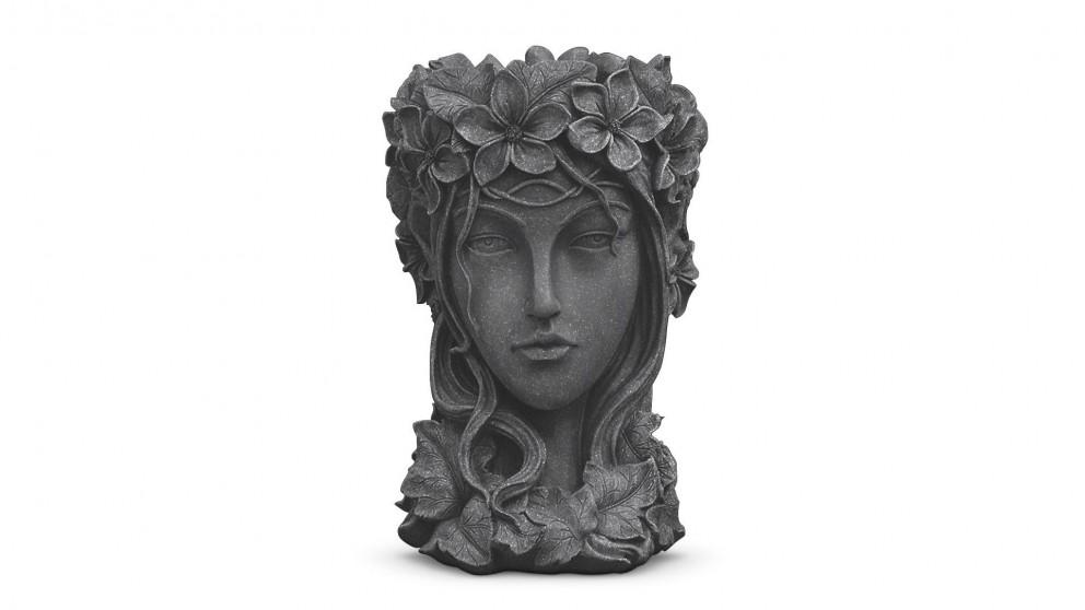 SOGA Resin Flower Pot Decor - Black
