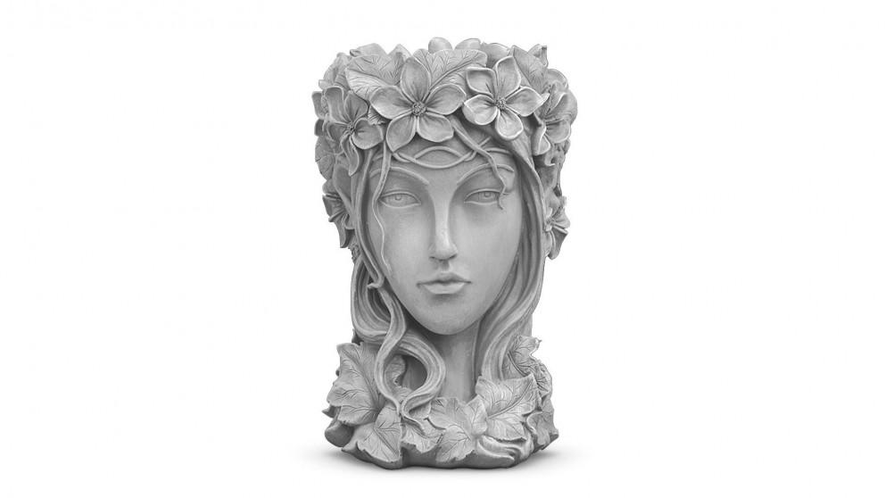 SOGA Resin Flower Pot Decor - Grey