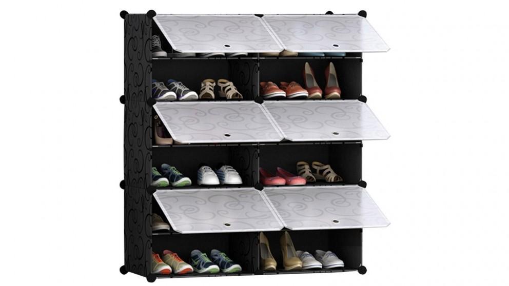 SOGA 6 Tier 2 Column Shoe Organizer