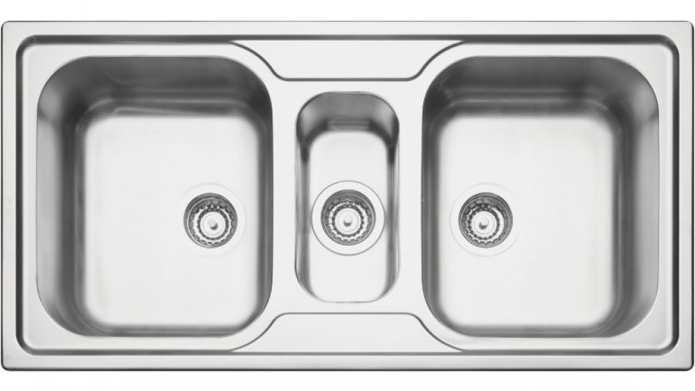 Linsol Marea 34 Plus 2.5 Bowl Top Mount Sink