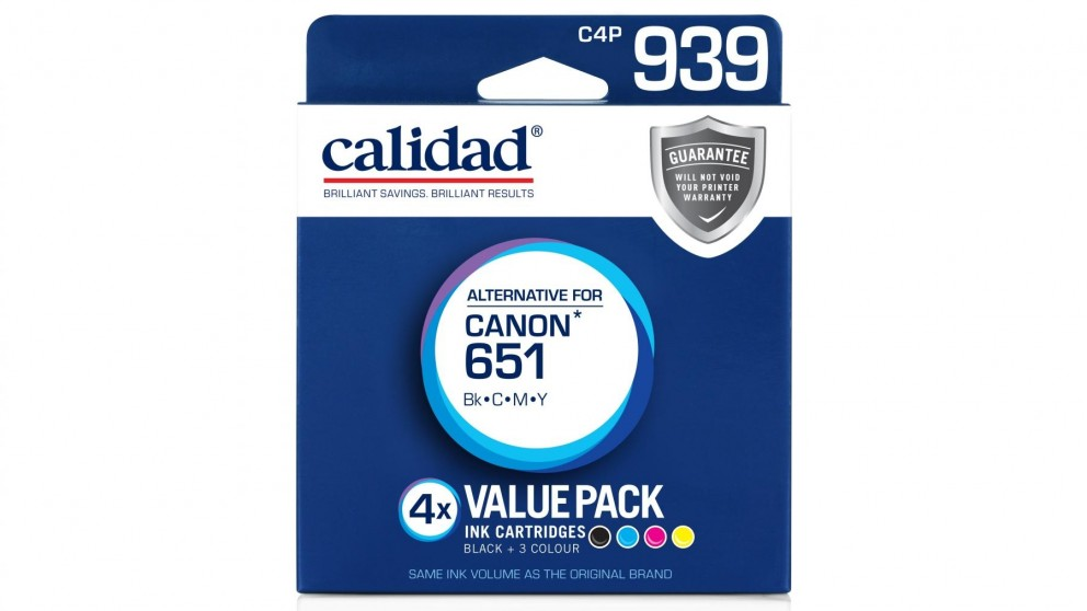 Calidad Canon CLI-651 4-Pack Ink Cartridge