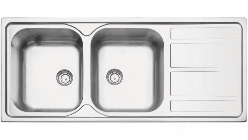 Linsol Marea 2C 34 Plus Double Bowl Top Mount Sink