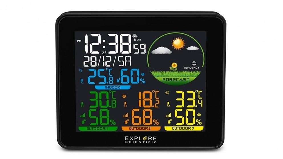 Explore Scientific Color Weather Station with Multiple Sensors
