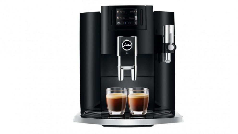 Jura E8 New Auto Coffee - Piano Black
