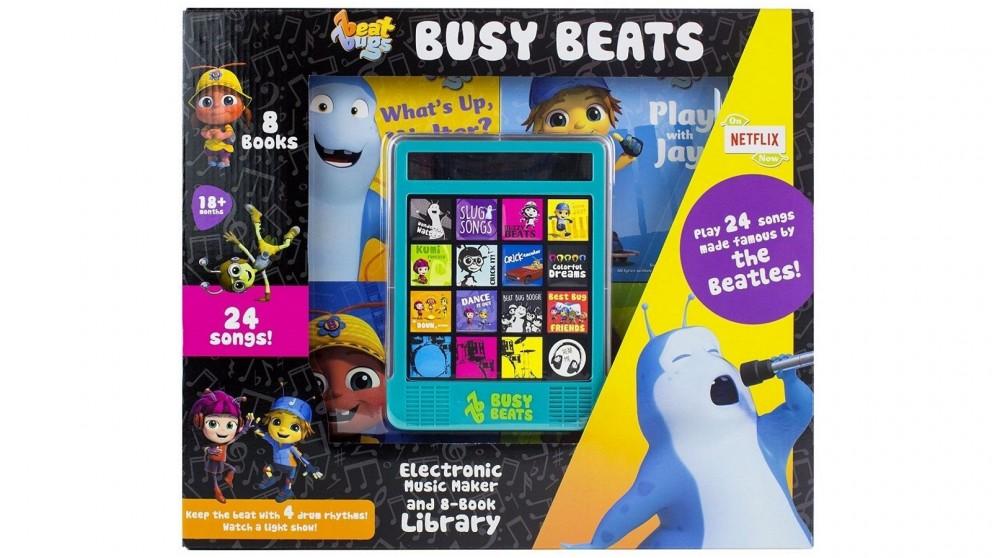 Beat Bugs Busy Beats Electronic Music Maker and 8-Book Library