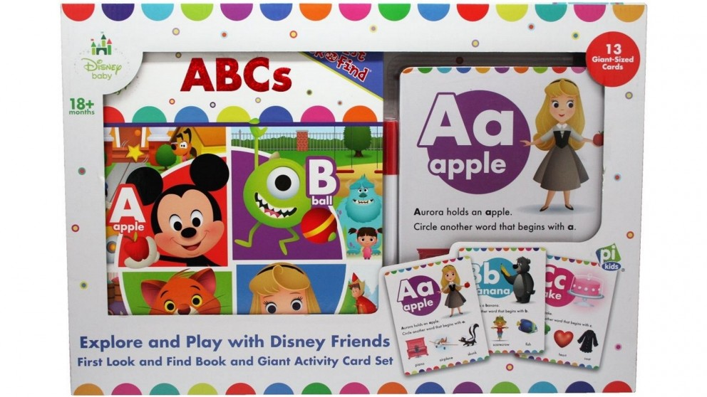 Disney Baby First Look and Find Giant Activity Card Set