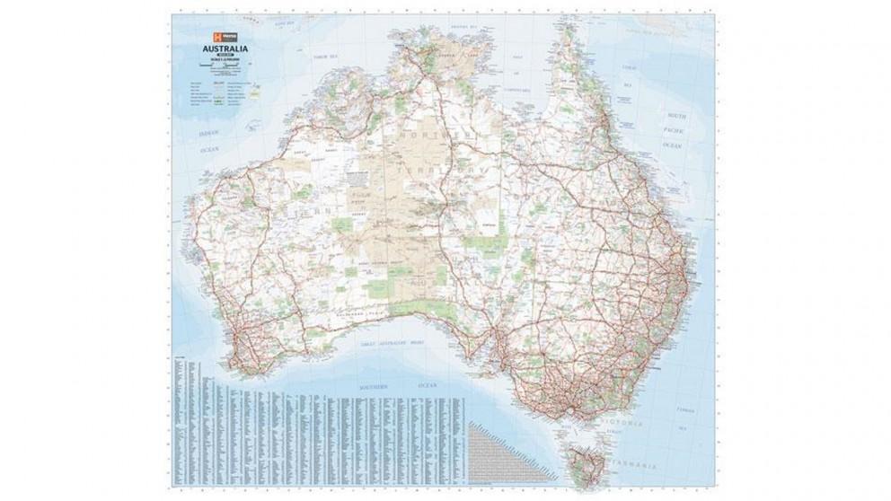Hema Maps Australia Laminated Mega Map - 1660x1455
