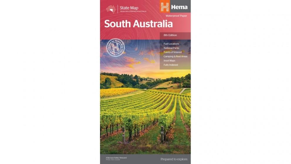 Hema Maps South Australia State Map (Waterproof/Tearproof Folded Paper)