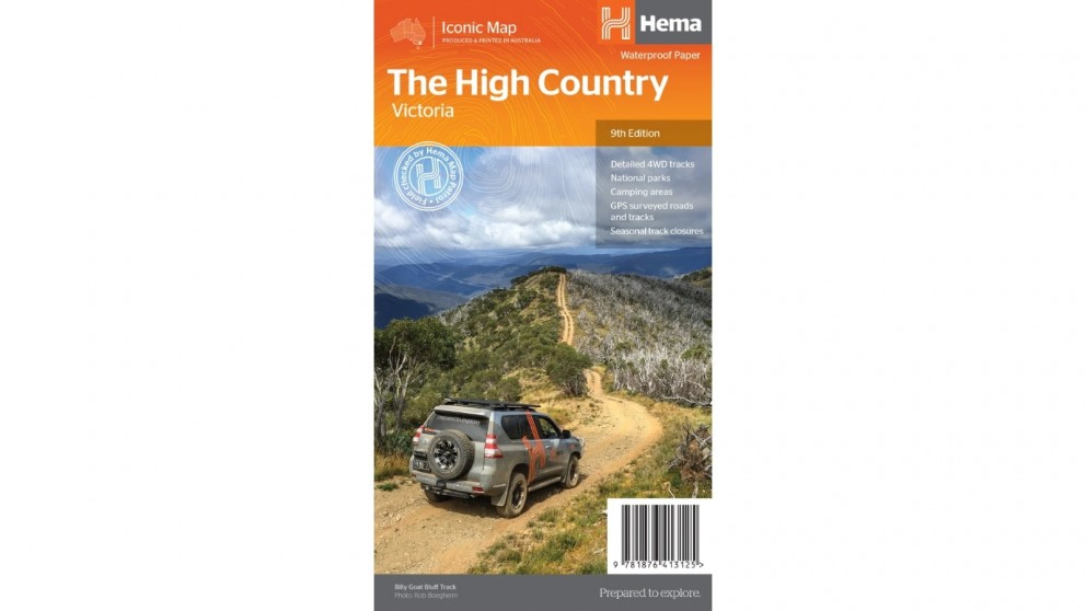 Hema Maps The Victorian High Country Overview Map (1:200k) (Waterproof/Tearproof Folded Paper)