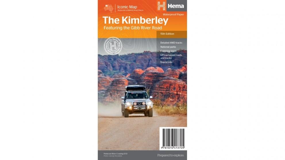 Hema Maps The Kimberley Map (Waterproof/Tearproof Folded Paper)