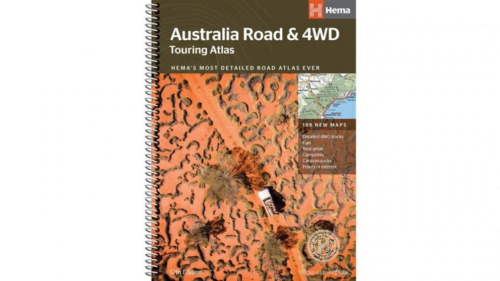 Hema Maps Australia Road & 4WD Touring Atlas Map - 215 x 297mm