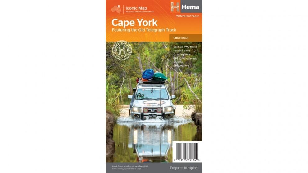Hema Maps Cape York Map (Waterproof/Tearproof Folded Paper)