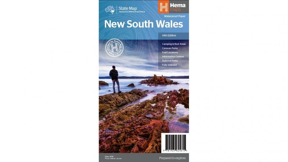 Hema Maps New South Wales State Map (Waterproof/Tearproof Folded Paper)
