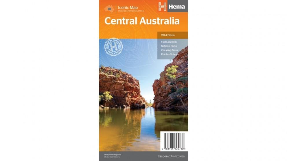 Hema Maps Central Australia Map - Folded