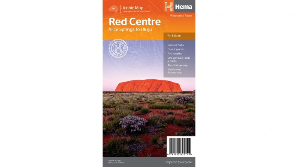 Hema Maps The Red Centre Map - Folded