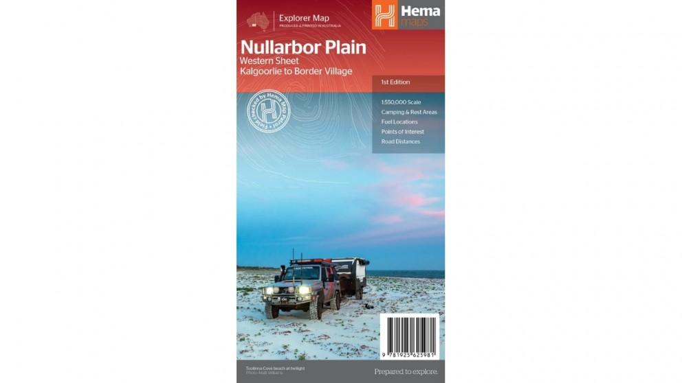 Hema Maps Nullarbor Plain Western Map - Kalgoorlie to Border Village