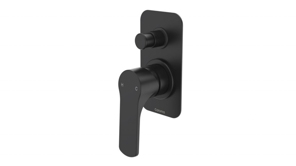 Caroma Urbane Shower or Bath Mixer with Diverter - Black