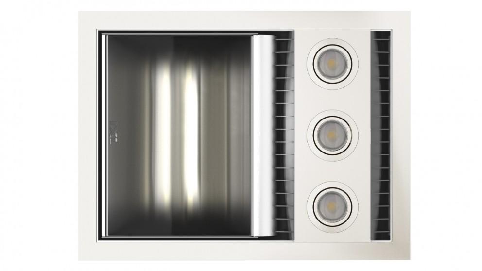 IXL Neo Tastic Single Bathroom Heat, Fan & Light - White