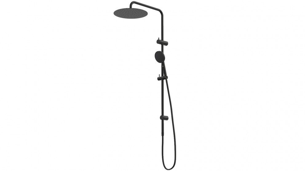 Caroma Urbane II Rail Shower with 300mm Overhead - Matte Black