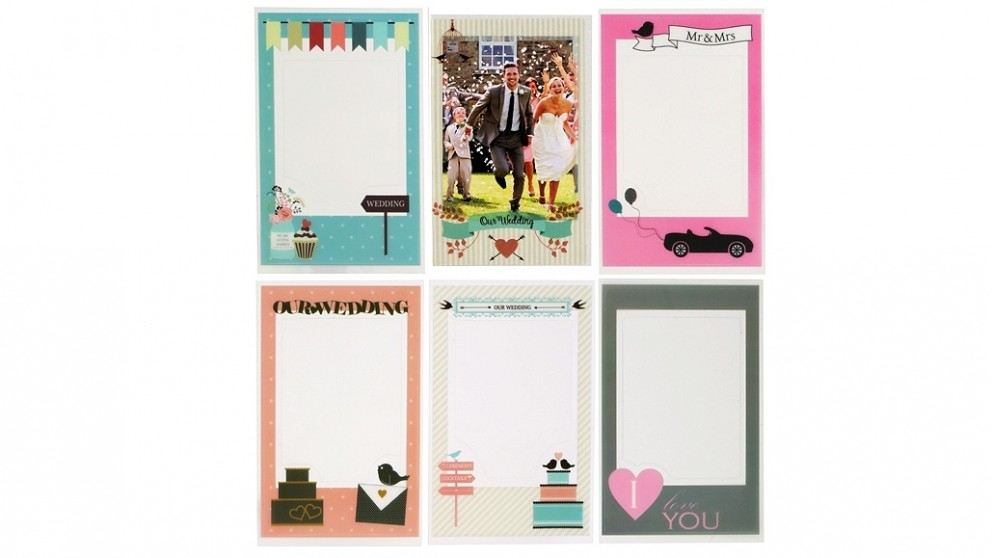 Instax Mini Photo Frame Sticker 6 Pack - Wedding