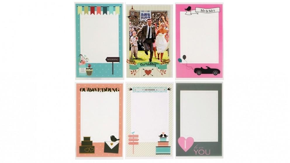 Instax Mini Photo Frame Sticker 6 Pack - Wedding