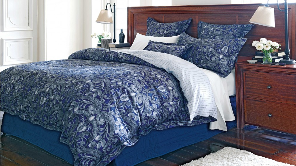 Stratton Lapis Tailored Pillow Cases Pair