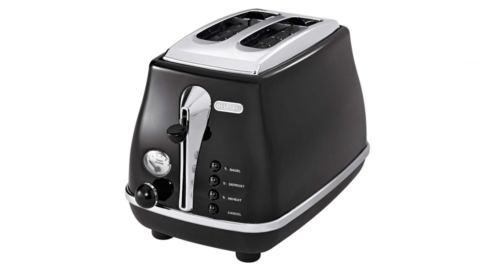 DeLonghi Icona 2 Slice Toaster - Black