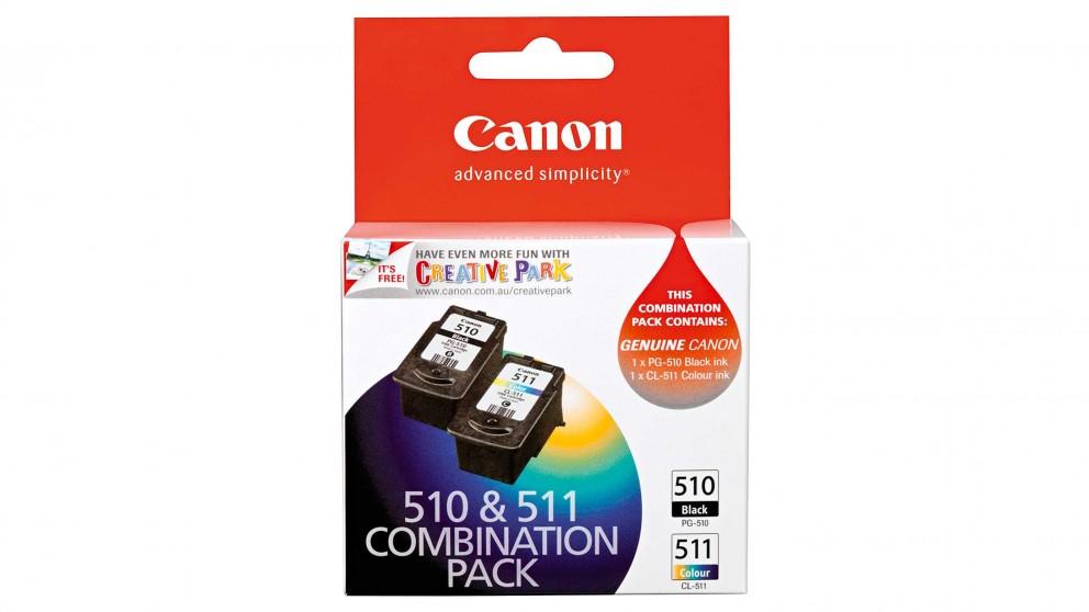 Canon PG510CL511CP Black Ink & Colour Ink Cartridges