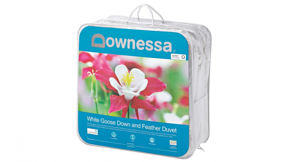Downessa 50/50 White Goose Down and Feather Quilt