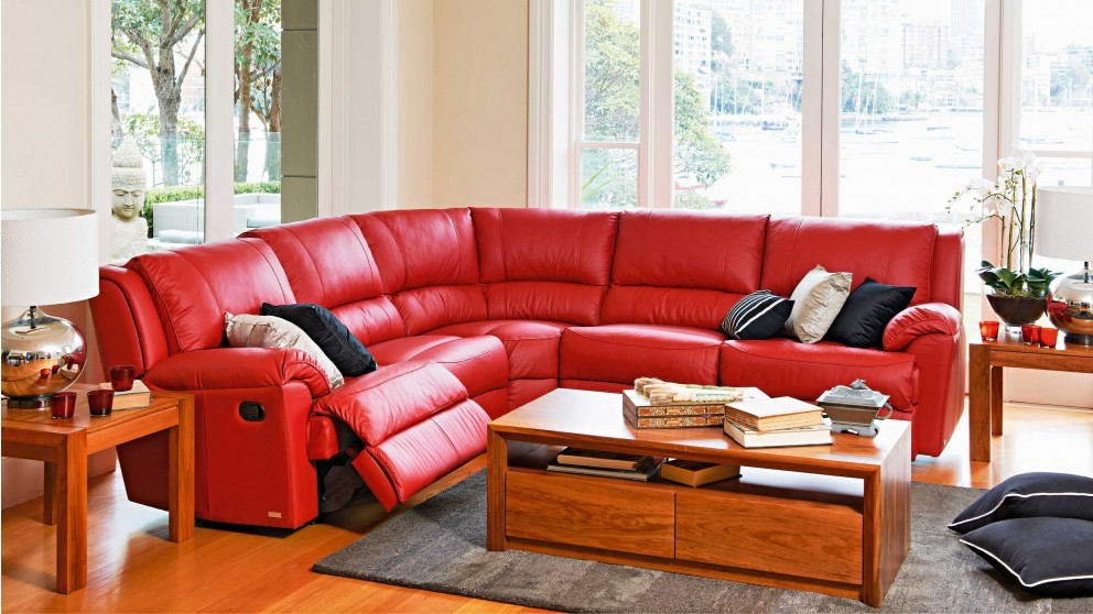 Renmark Leather Modular Recliner Lounge