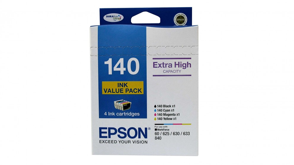 Epson 140 Extra High Capacity DURABrite Ultra Ink Cartridge Value Pack