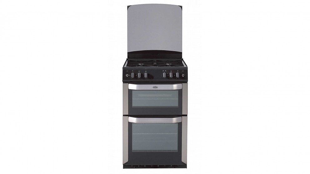 Belling 540mm Freestanding Natural Gas Twin Cavity Cooker - Stainless Steel