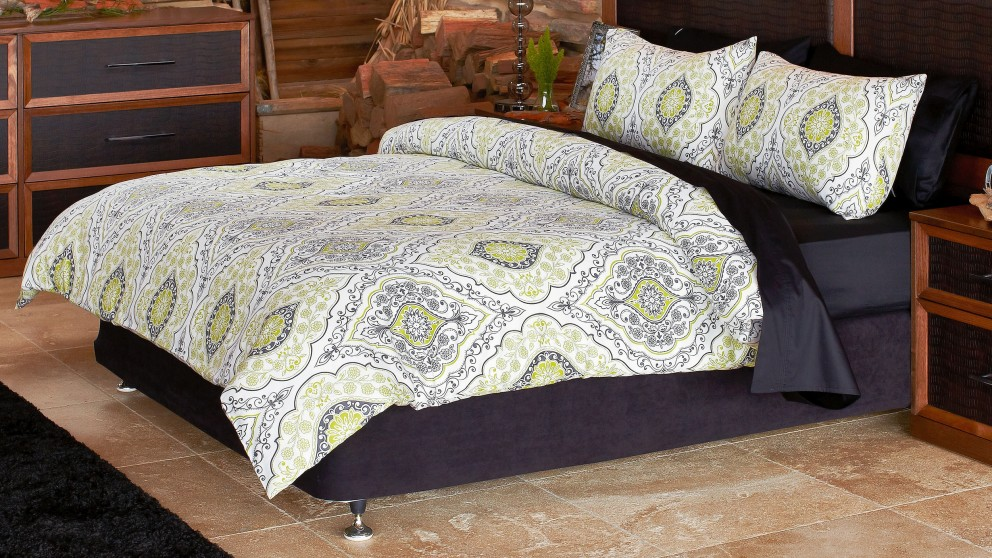 Marcello Olive Queen Quilt Cover Set