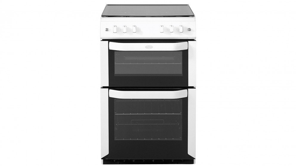 Belling 540mm Twin Cavity Freestanding Gas Cooker Oven - White