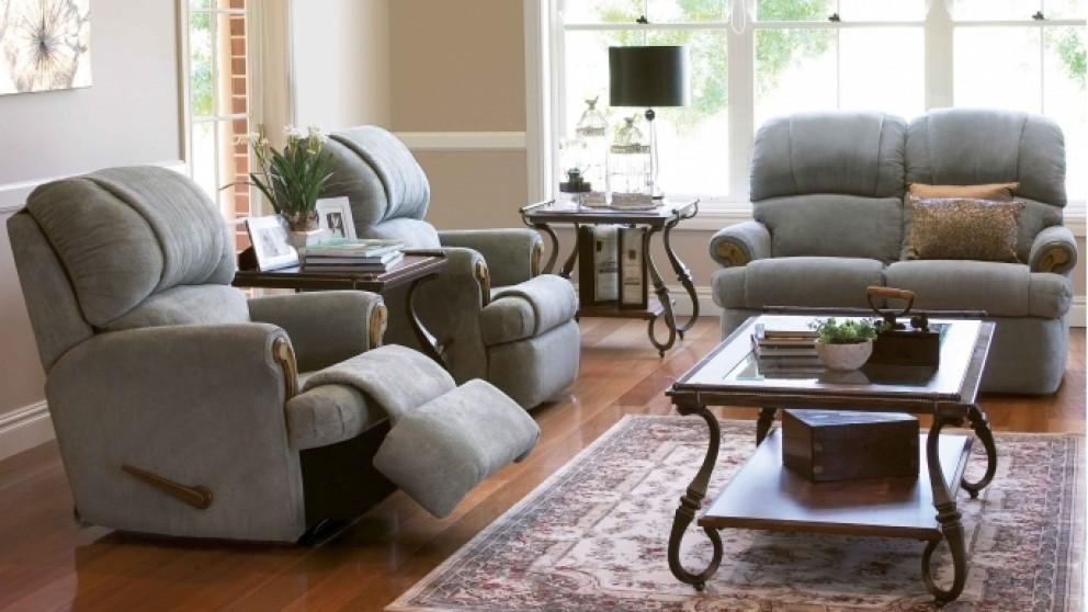Bunbury 3 Piece Fabric Recliner Lounge Suite